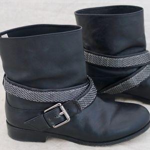 MICHAEL KORS silver belt buckle Boots size 7 M